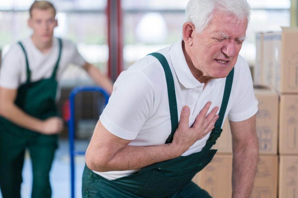 Man suffering heart attack